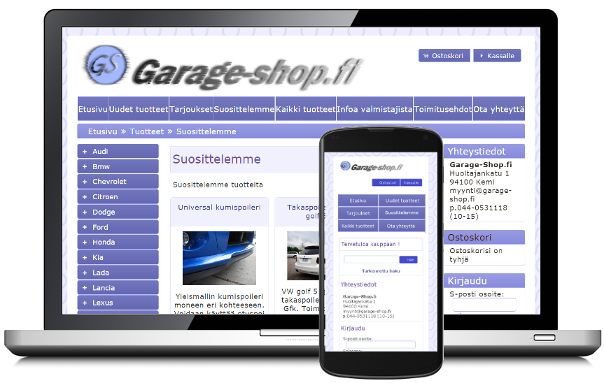 Garage-Shop verkkokauppa
